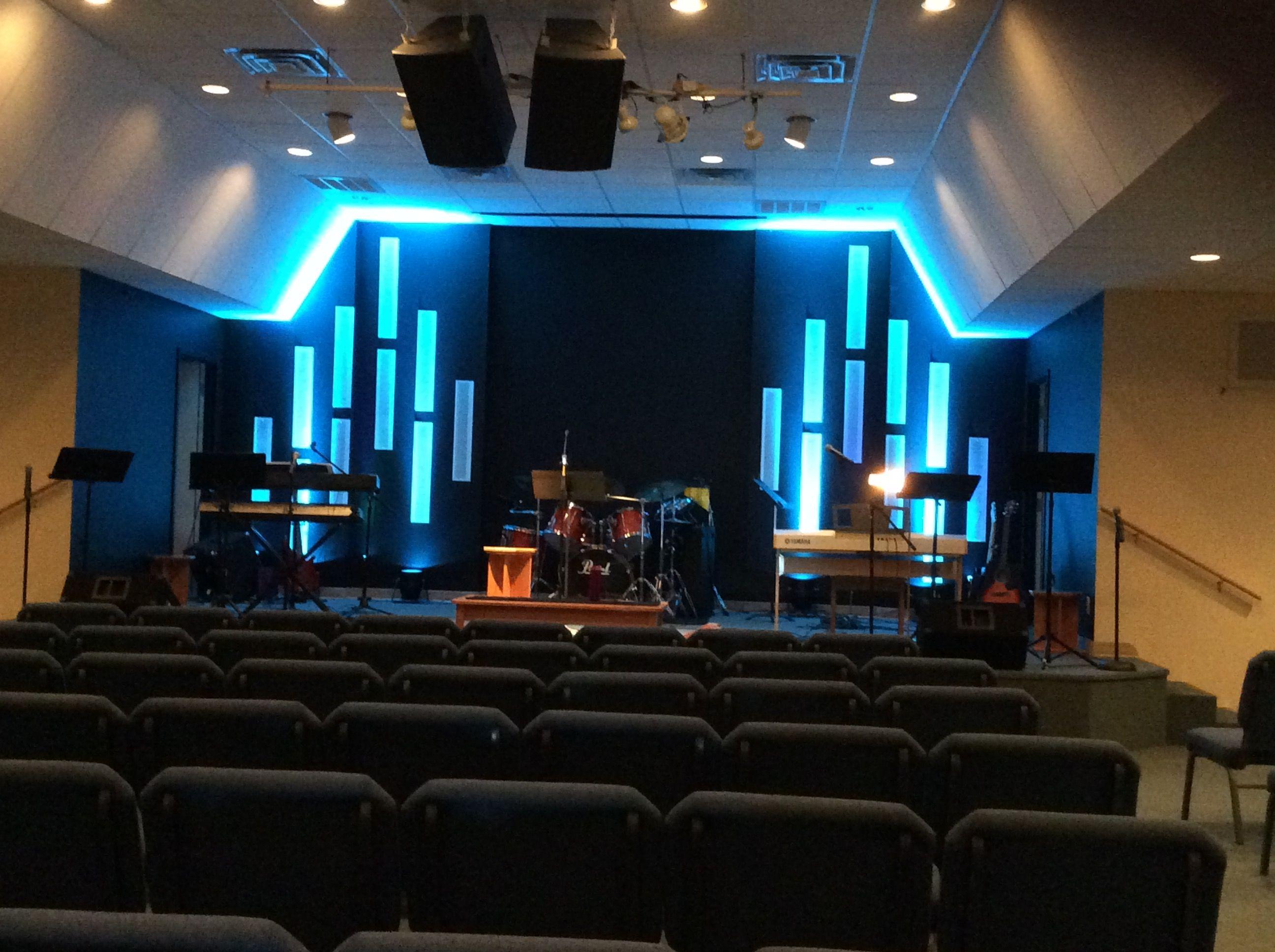 Vert Gutters Church Stage Design Church Interior Design Church