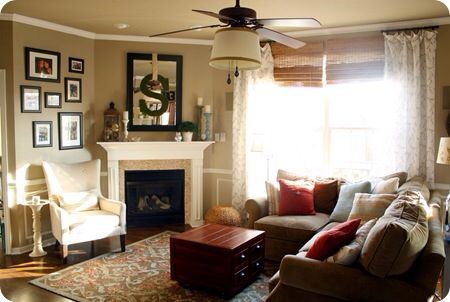 One Chair Next To Fireplace Corner Fireplace Living Room Living Room Arrangements Furniture Placement Living Room