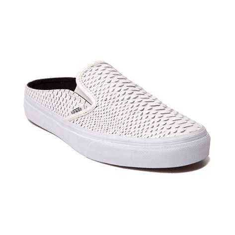 670e7afd73 Vans Women Classic Slip-On Mule - Embossed Leather (white   true white)  Size 8 US