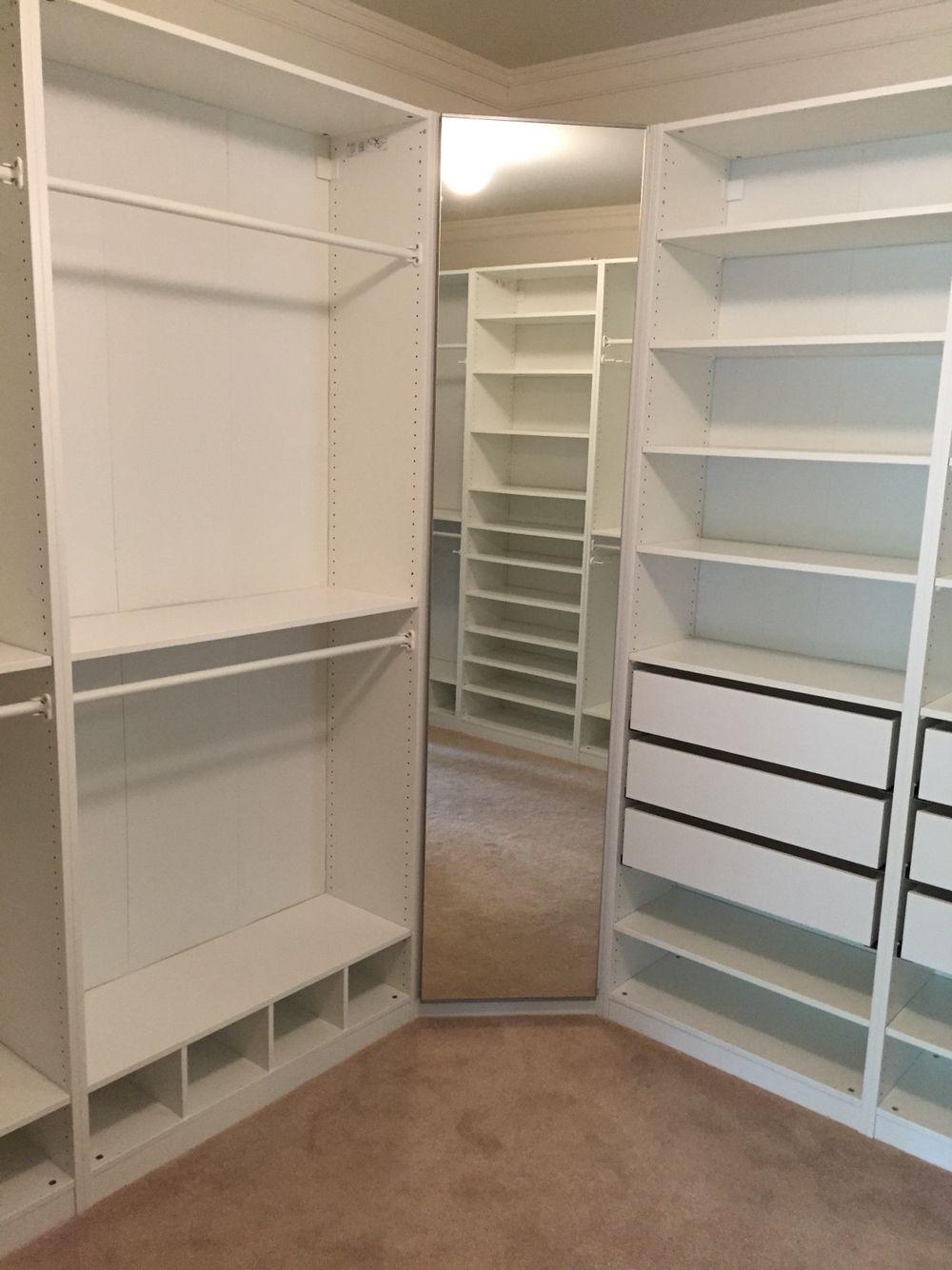 Walk in closet pax ikea home ideas pinterest mon for Chambre walk in