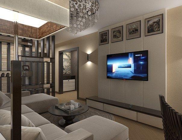 Дизайн квартиры площадью 45 кв.м. - Дизайн интерьеров | Идеи вашего дома | Lodgers
