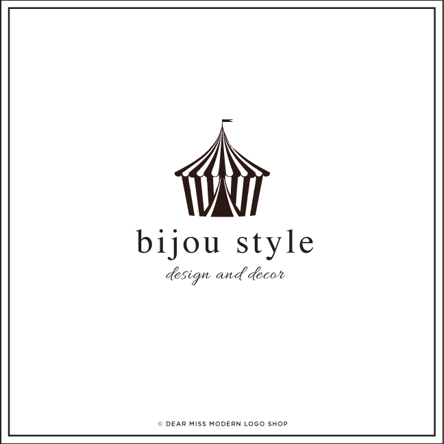 Logo Design: instant download | instant chic. Bijou Style // from the Dear Miss Modern Shop: http://www.dearmissmodern.com