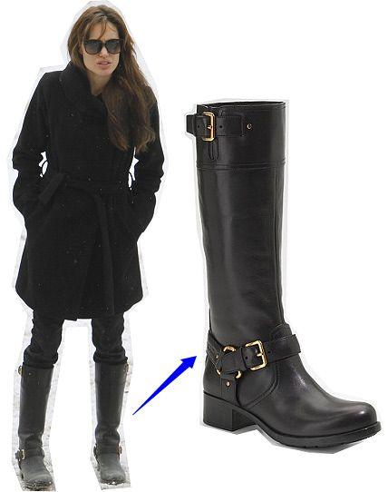 2e67ce7a2f8 Angelina Jolie Prada boots, love the whole outfit |