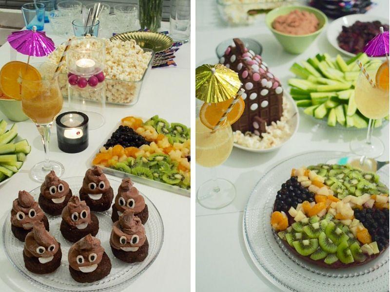 Poop emoji raw cakes and jamaica themed raw cake.