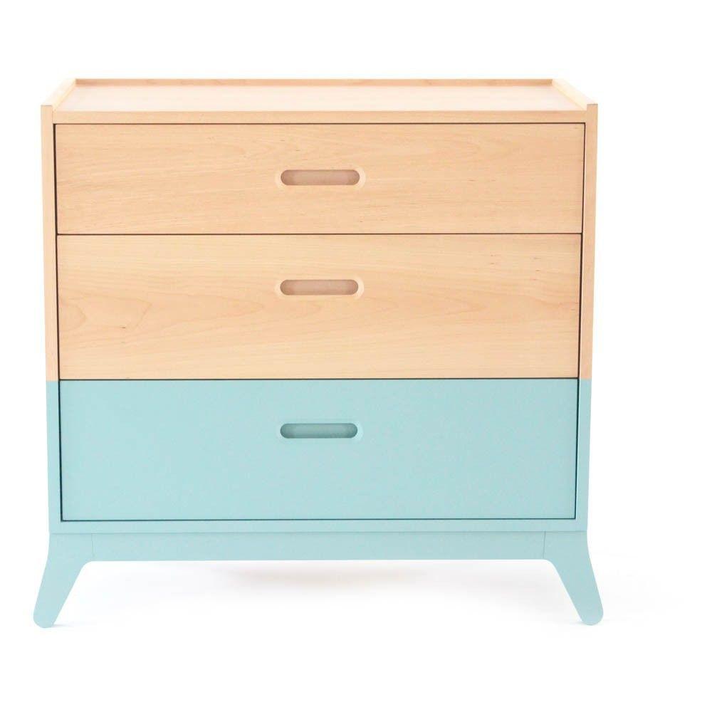 Commode 3 tiroirs Vert d\'eau | Kids rooms and Room