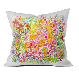 Stephanie Corfee Bubble Garden Throw Pillow