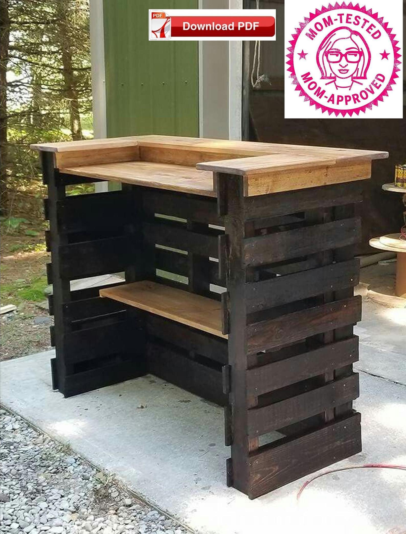 Pool Bar Plan/Pallet Bar Plan/Wood Bar Plan/Rustic Bar ...