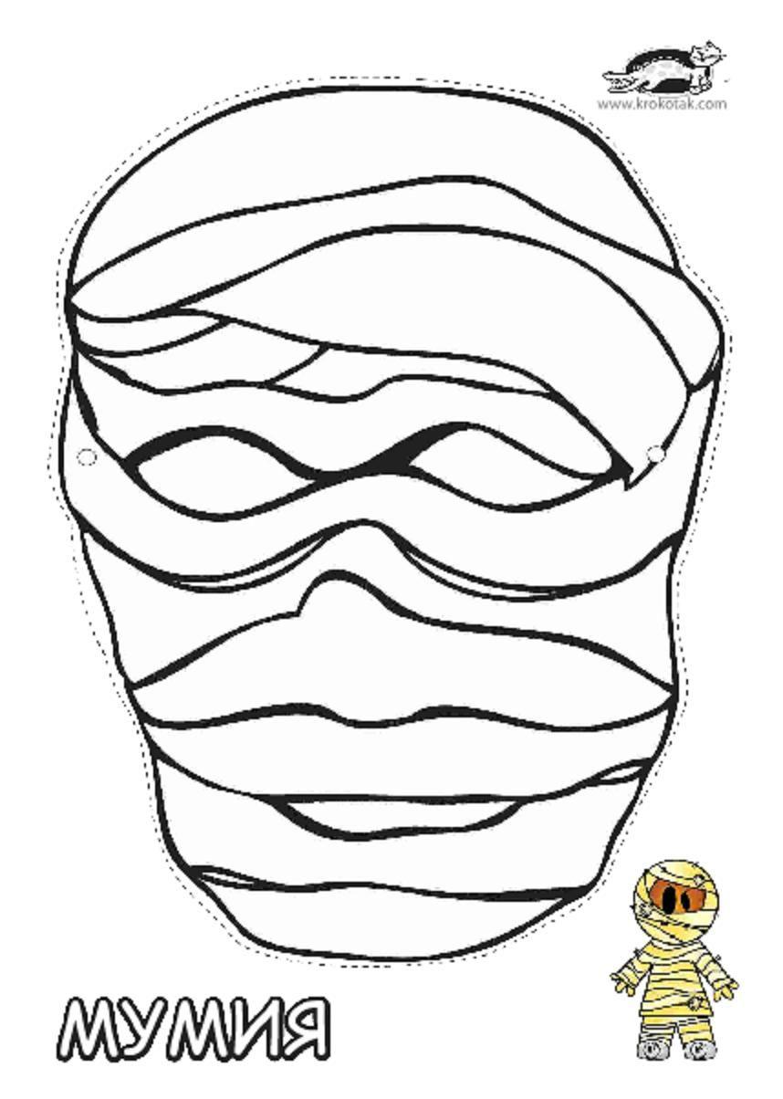 Uncategorized Printable Masks For Kids printable mummy mask masks for kids pinterest explore and more