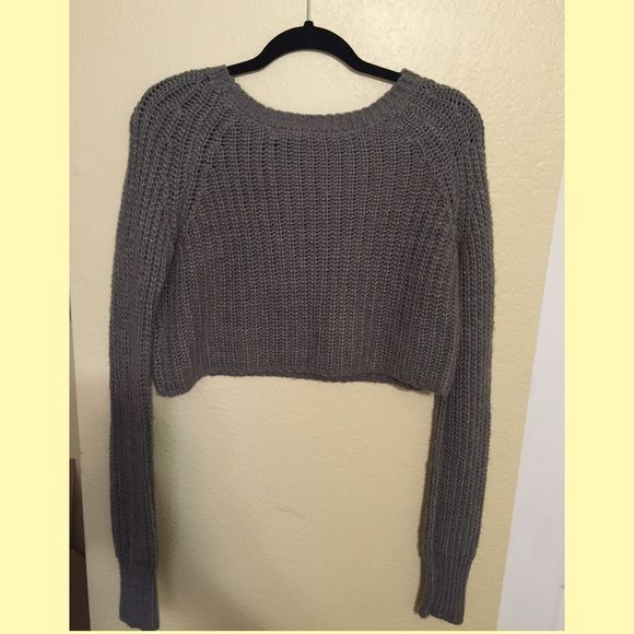 Crop Sweater Knitted crop sweater Urban Outfitters Sweaters Crew & Scoop Necks