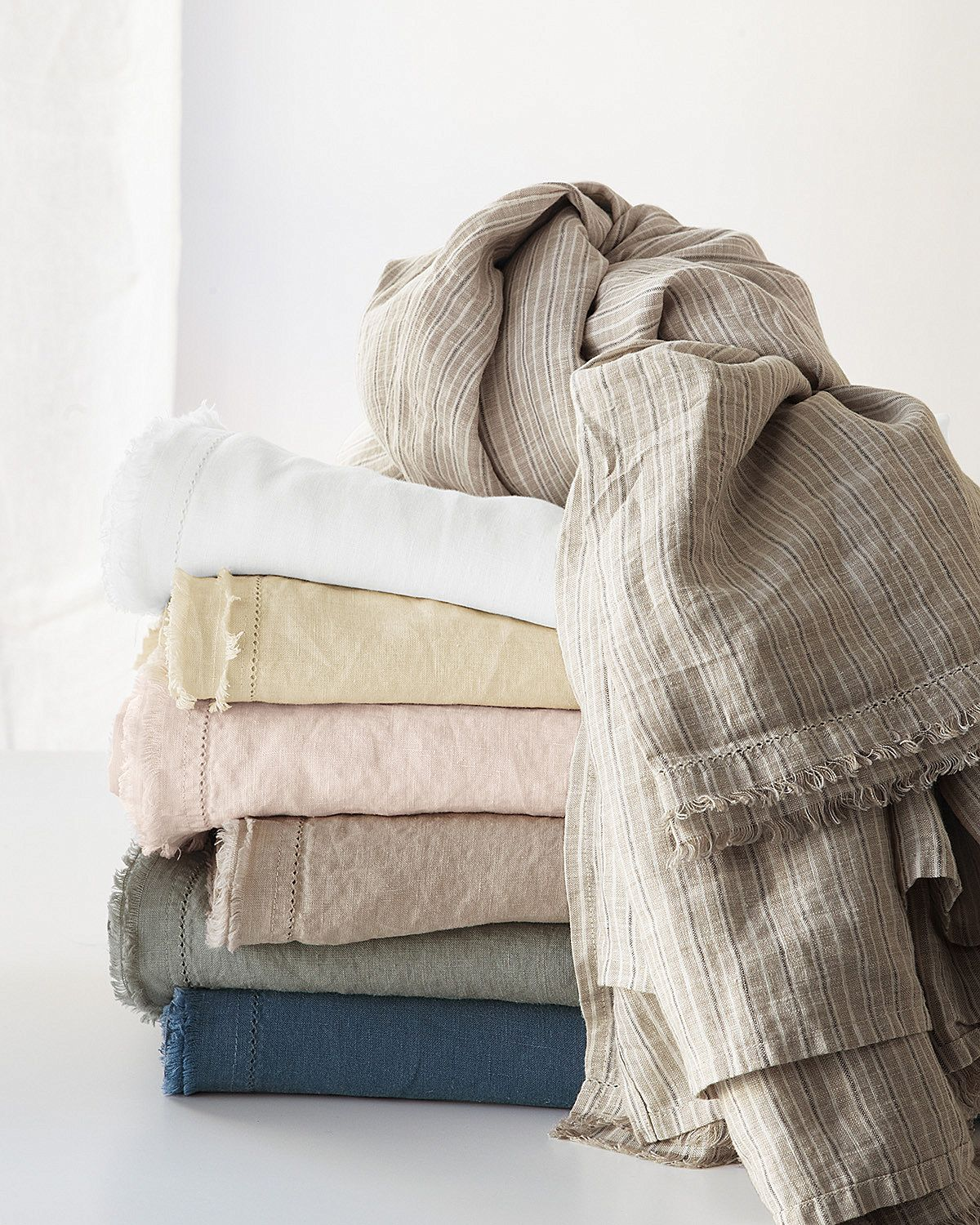 Eileen Fisher Washed Linen Bedding Available Only At Garnet Hill