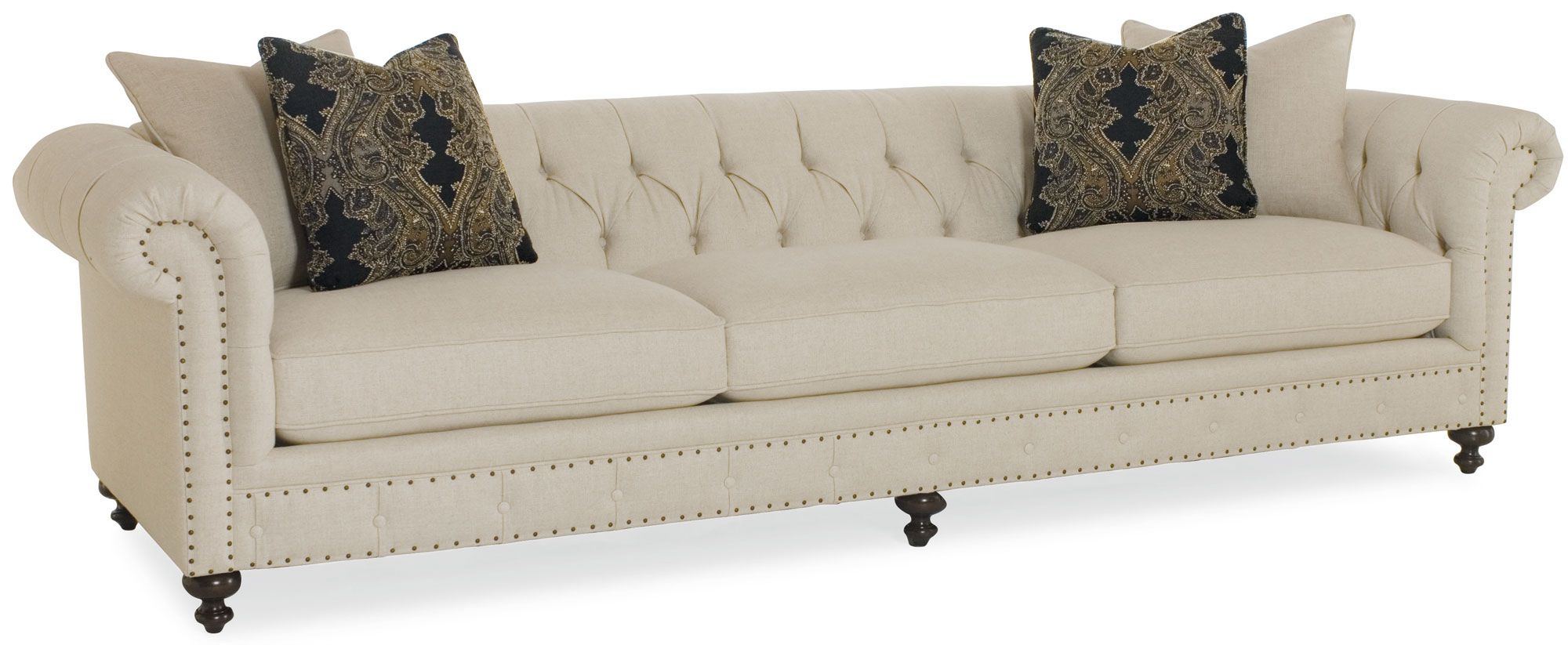 For Bernhardt Riviera Sofa And Other Living Room Sofas At Stacy Furniture In Gvine Allen Plano Tx Available Nailhead Finishes