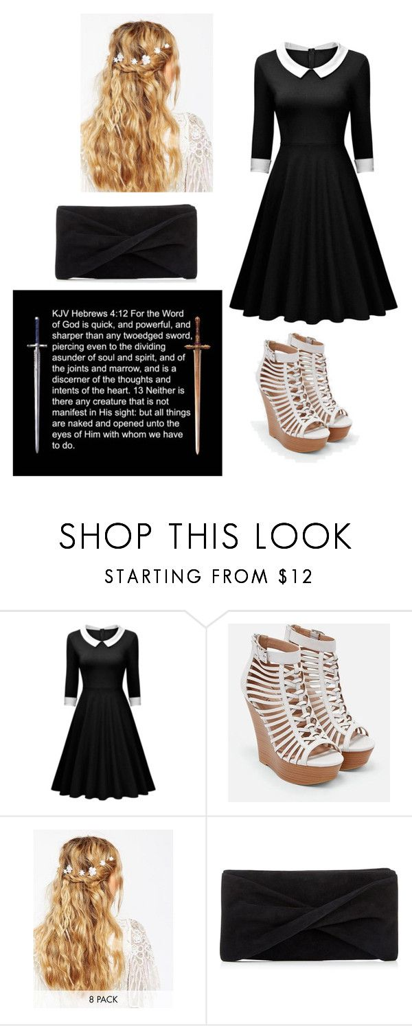"""""""Hebrews 4:12"""" by coomer ❤ liked on Polyvore featuring JustFab, ASOS and Reiss"""
