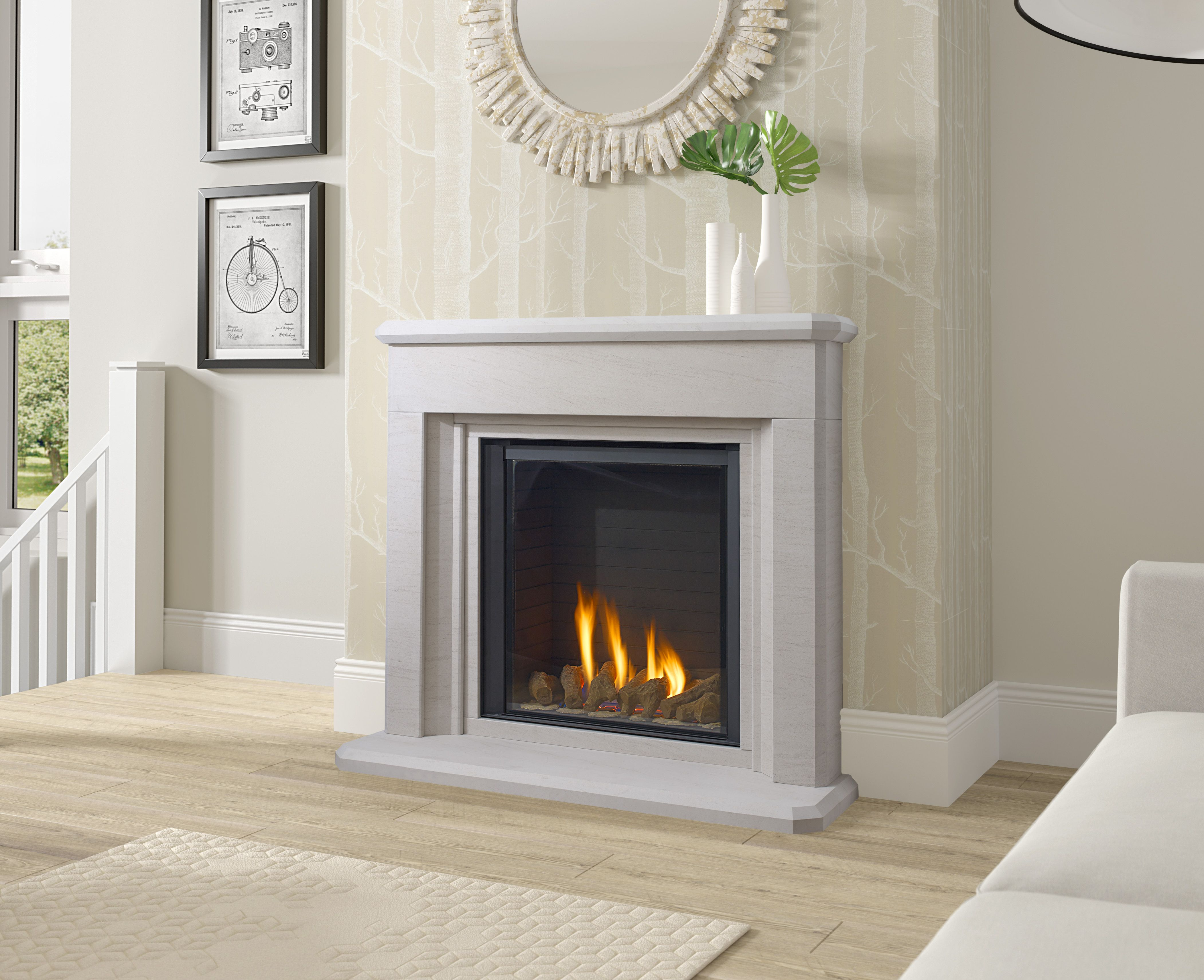 Paragon P9 Leighton Suite To Learn More About This Design Or To Request A Brochure Contemporary Fireplace Contemporary Fireplace Designs Indoor Gas Fireplace