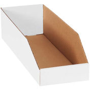 Bins Totes Containers Bins Shelf Nesting 6 X 12 X 4 1 2 Kraft Corrugated Open Top Bin Boxes Pkg Qty 50 B684534 Bins Corrugated Corrugated Box