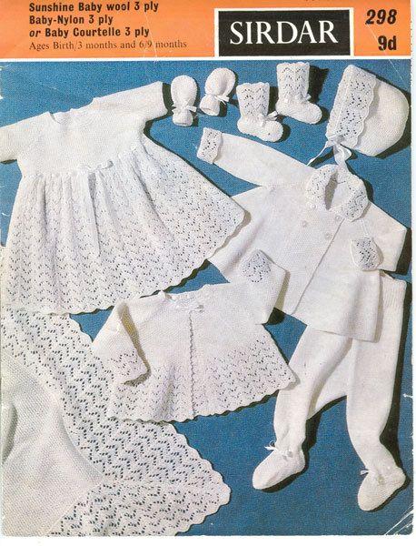 cdf42937e Sirdar 298 Vintage Knitting Pattern Baby by vintagemadamedefarge ...