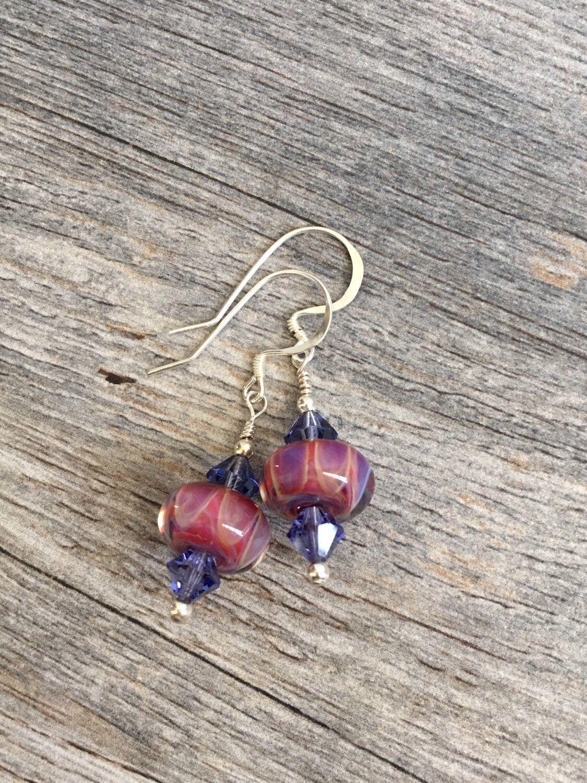 A personal favorite from my Etsy shop https://www.etsy.com/listing/153721155/lampwork-earrings-sterling-silver-purple