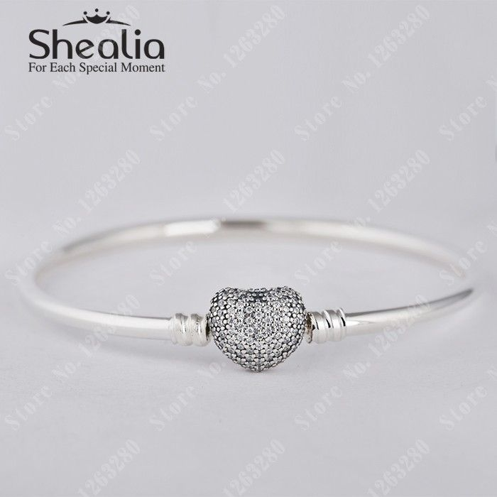 Original 925 Sterling Silver Heart Clasp Bangles W Price: $35.99 Buy From AliExpress:http://5.gp/m25e