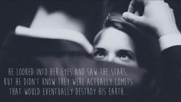 he looked into her eyes and saw the stars aboutlove pinterest