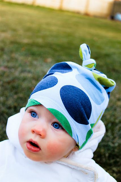 Upcycled tshirt to baby hat