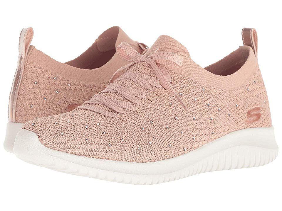 SKECHERS Ultra Flex Women's Lace up casual Shoes Rose