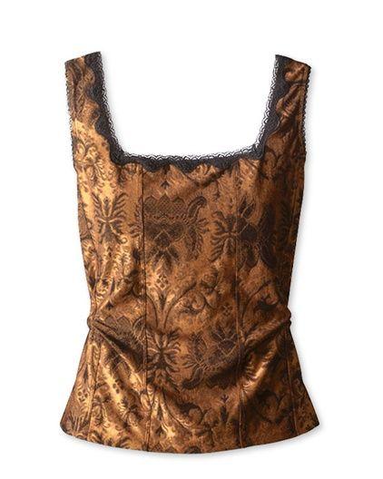 Jacquard Lace Knit Shell