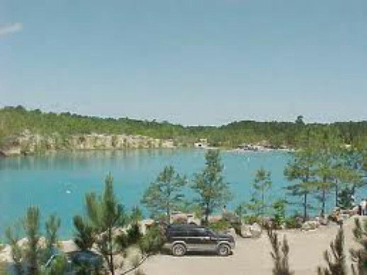Blue Lagoon In A Small Town In Texas Texas Vacation Spots Huntsville Texas Day Trips