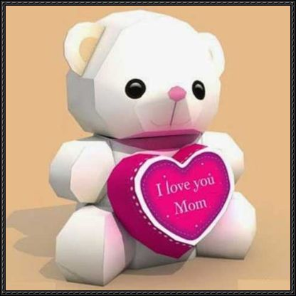 Motheru0027s Day - Love Bear Free Papercraft Download - http\/\/www - love templates free