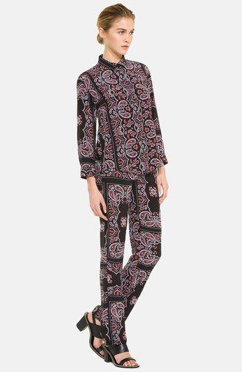 sandro 'Pashmina' Print Silk Pants | Nordstrom