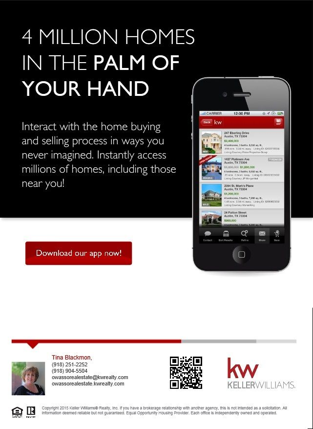 Download my personalized Keller Williams Realty App Now