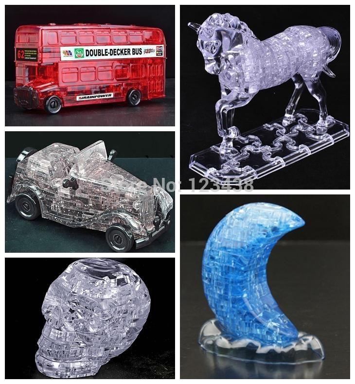 Bohs Puzzle 3d Krysztal Vintage Antique Samochod Pietrowy Autobus Czaszki Slonia Dekoracji Prezent Urodzinowy Zabawki Nie Retail Bo Elephant Toys Antique Cars