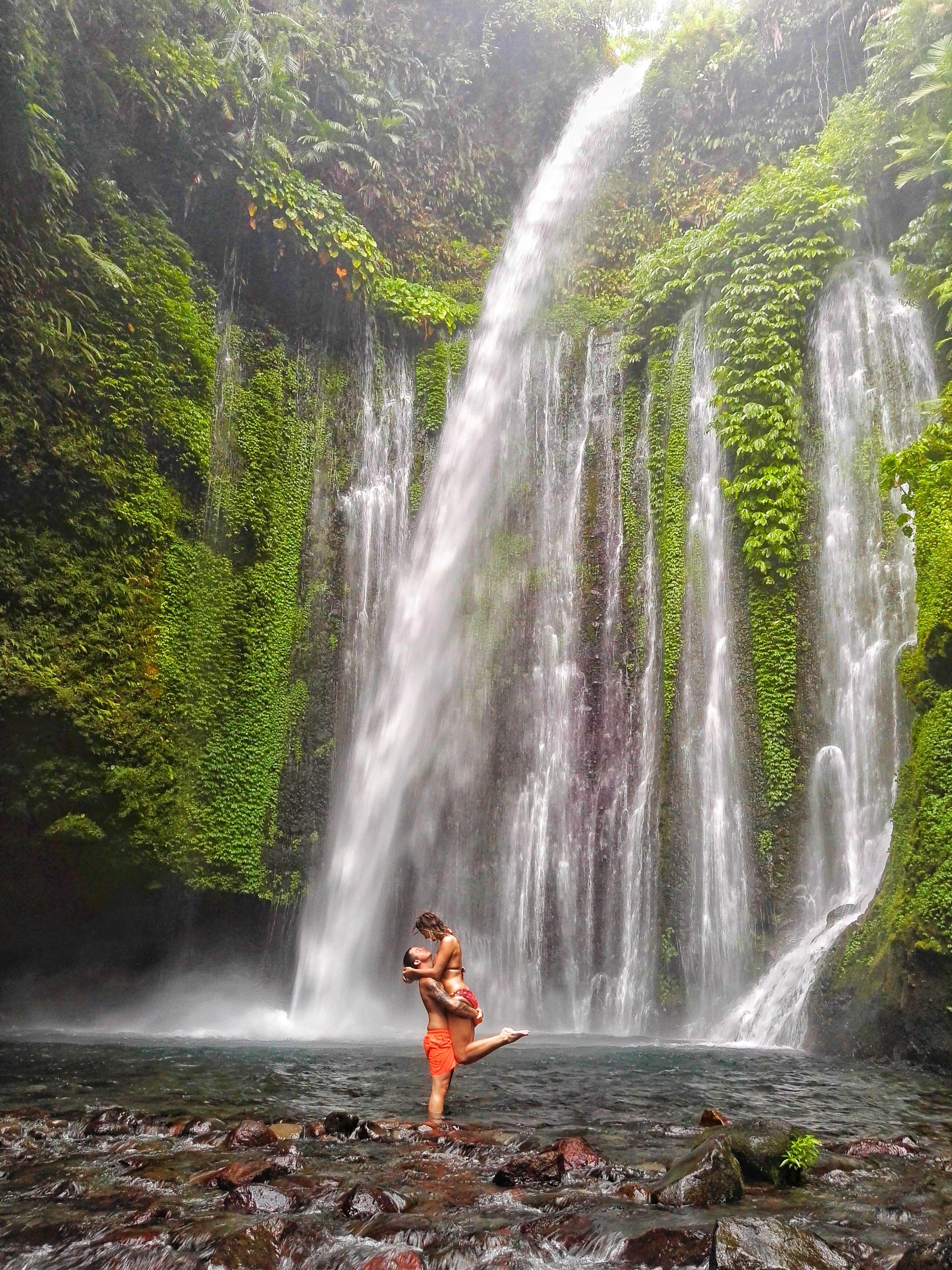 How To Find The Tiu Kelep Waterfall In Lombok Waterfall Indonesia Travel Lombok