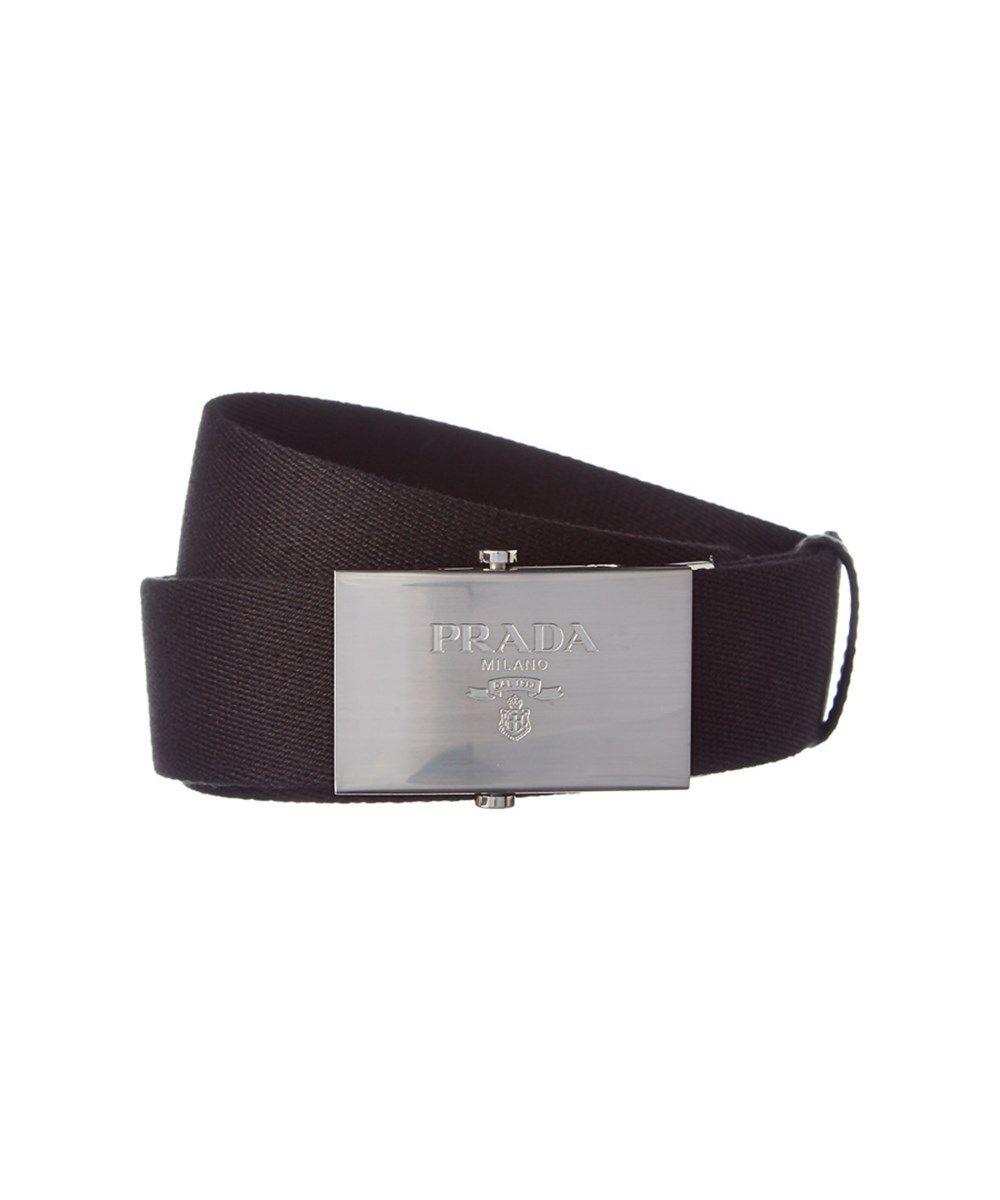 3ca2407b PRADA Prada Technical Fabric Plaque Buckle Belt'. #prada #belts ...
