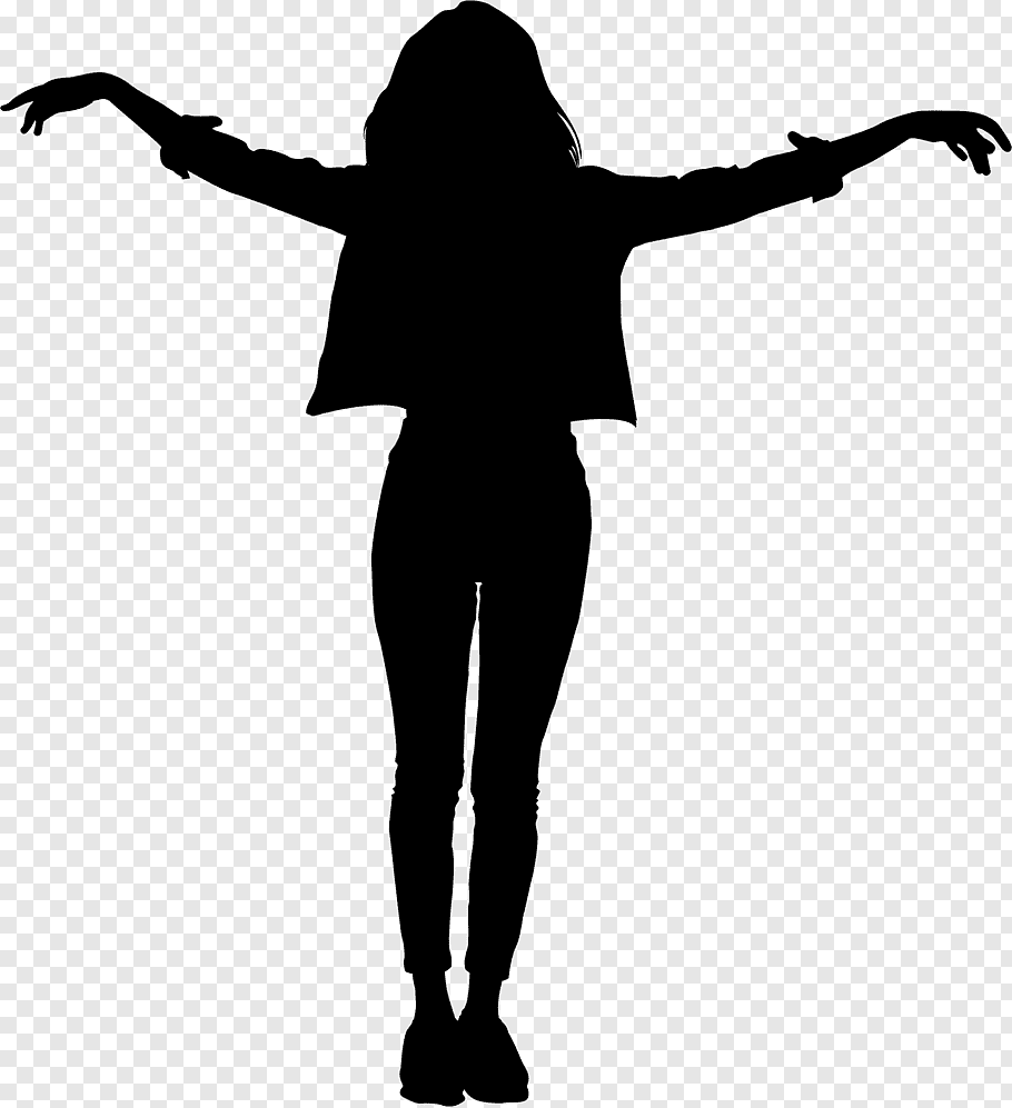 Woman Happy Silhouette Dance Funk Drawing Rhythm And Blues Standing Blackandwhite Free Png Girl Silhouette Dancing Sketch Dance Silhouette
