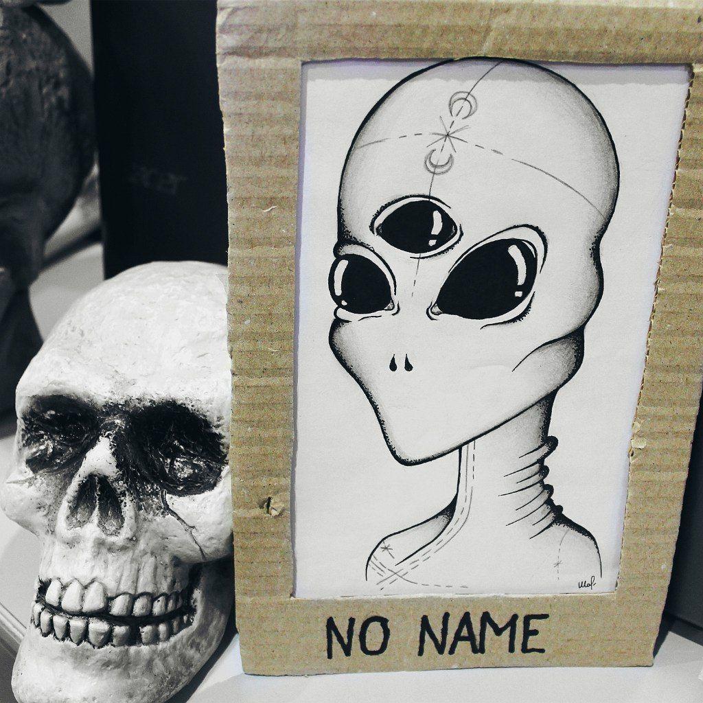 art #draw #drawing #alien #ufo #skull #iddyallen #pen #blackpen ...