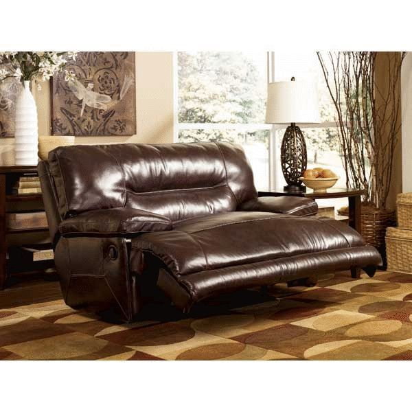 Oversized Leather Power Wall Saver Recliner By Ashley Furniture Luxurious Sweet Chocolate Padding With Plush O Wide Seat Recliner Oversized Recliner Recliner