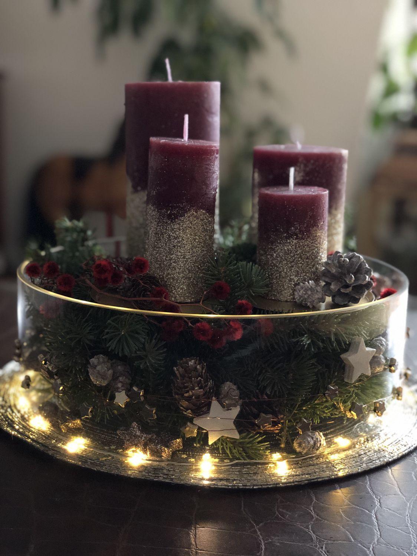 Adventsgesteck Rustikaleweihnachten Weihnachtsgestecke Deko