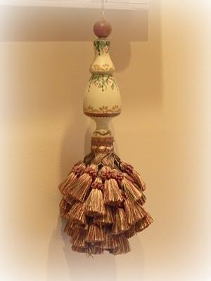 part of an old bedpost made into tassel my own projects