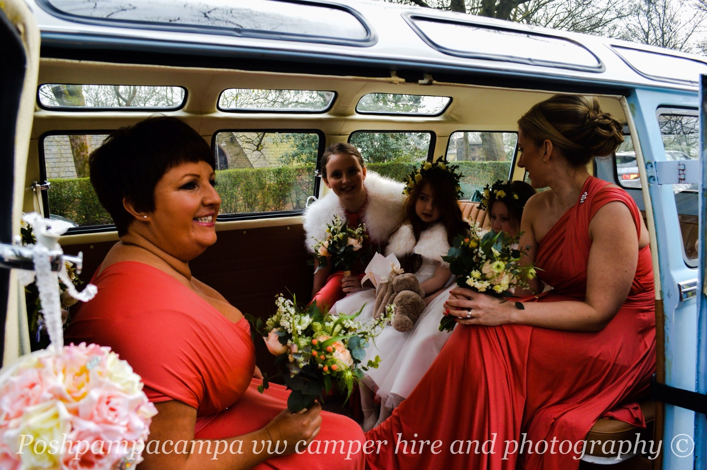 Beautiful to capture the bridesmaids enjoying themselves with Florence.