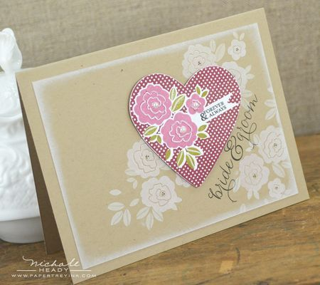 Bride & Groom Card by Nichole Heady for Papertrey Ink (December 2012)