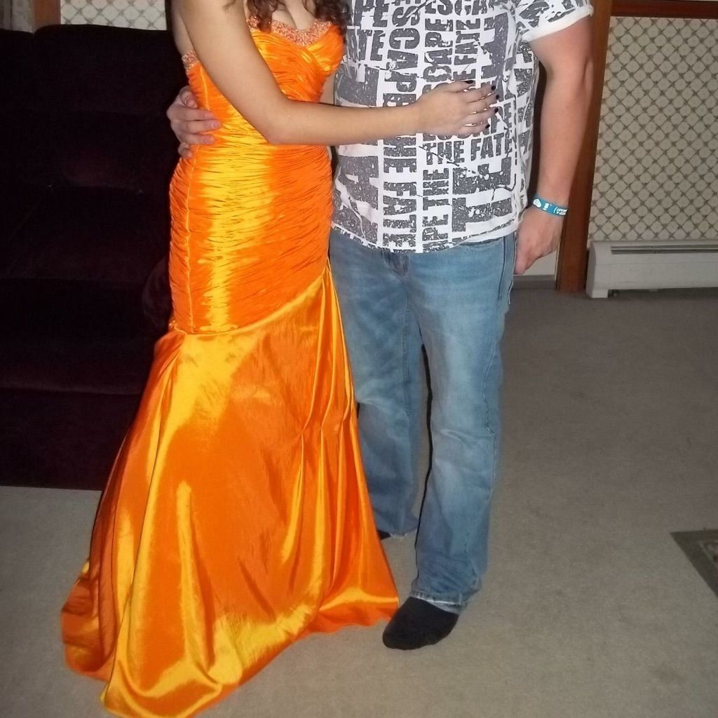Orange xcite prom dress gown size pinterest products