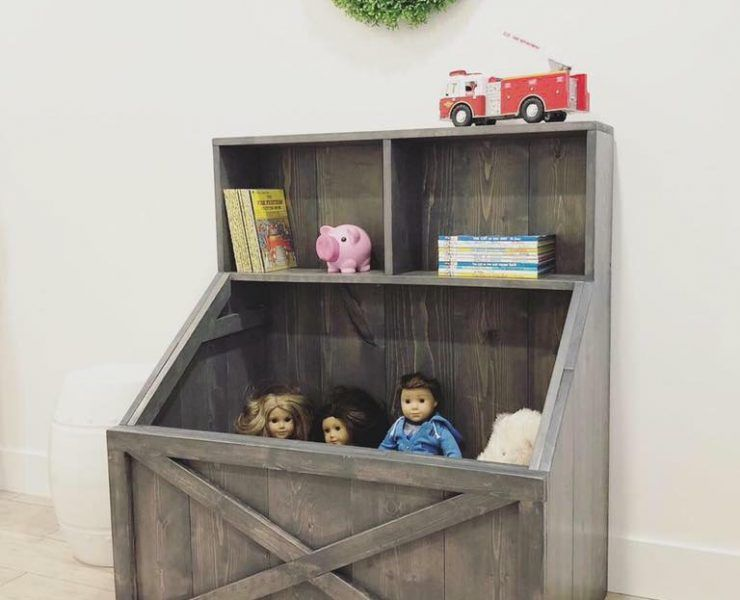 Pdf Plans For Slanted Toy Box Bookshelf By Rustic Meadows Toy Box Plans Diy Toy Box Plans Rustic Toy Boxes