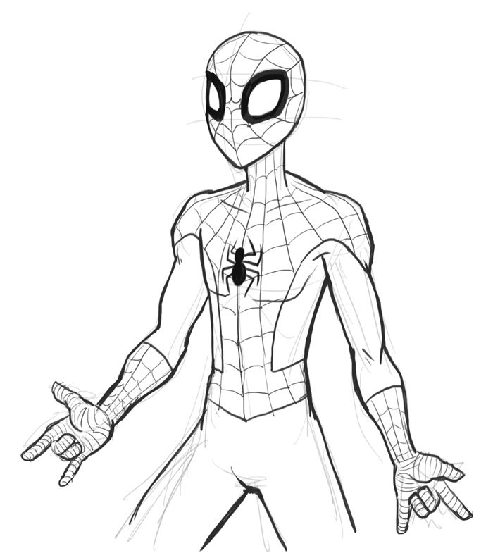 A Drawing Of Spiderman