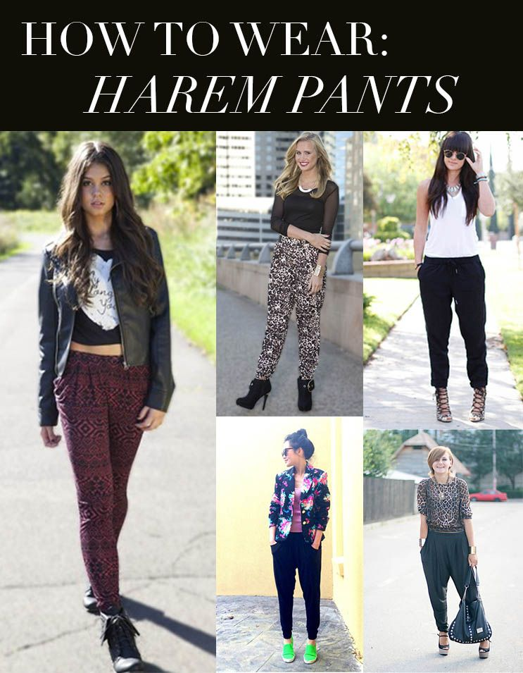 When wearing your harem pants for a more casual look pair it with a denim jacket simple top and your favorite flats or sneakers. When it comes to dressing down harem pants have fun with it and pair your favorite causal pieces.