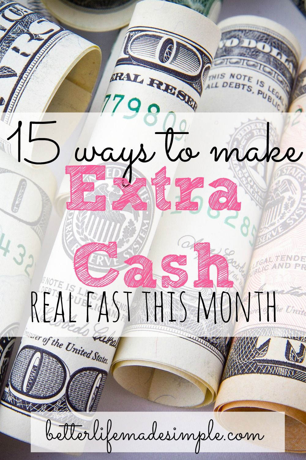 35 Ways To Make Extra Cash This Month | Extra money, Extra cash and ...