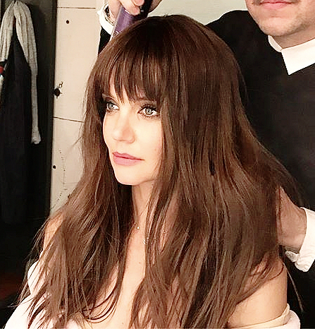 Celebrity Bangs Trend The It Girl Hairstyle Of 2017 Katie Holmes