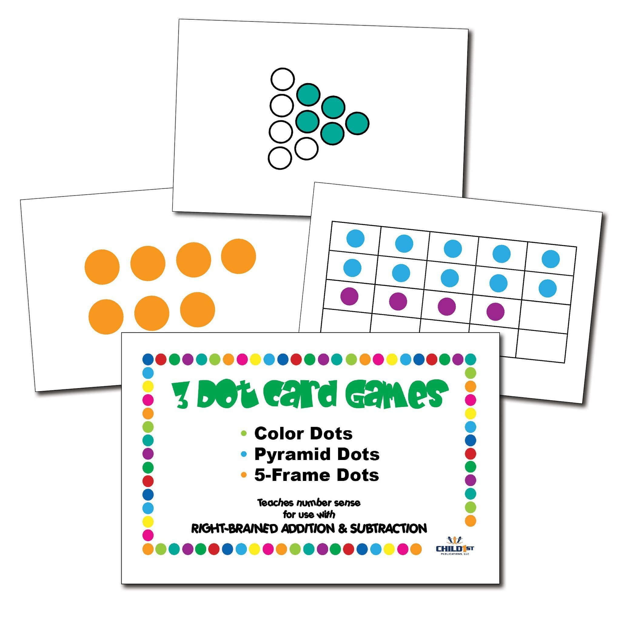 Right Brained Addition Amp Subtraction Dot Cards