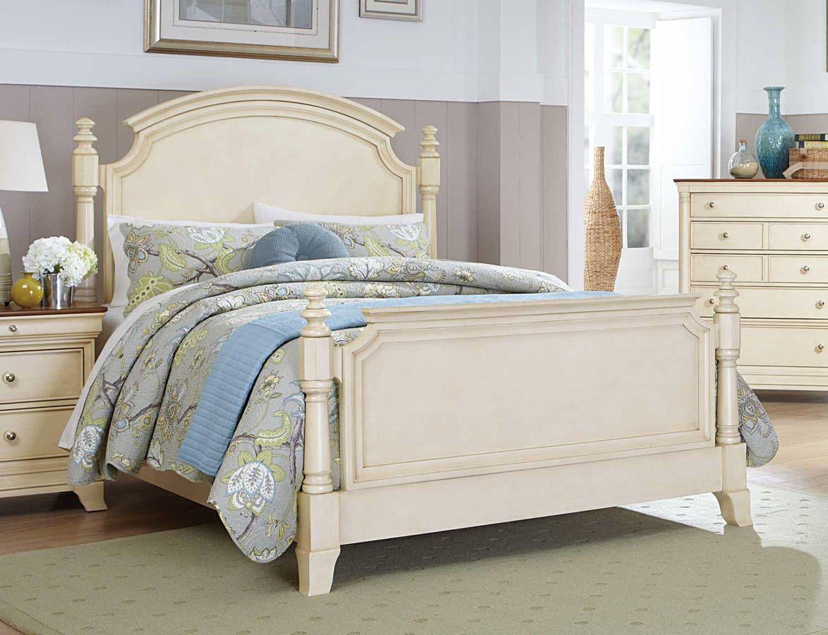 Home Elegance Inglewood II White Queen Panel Bed King