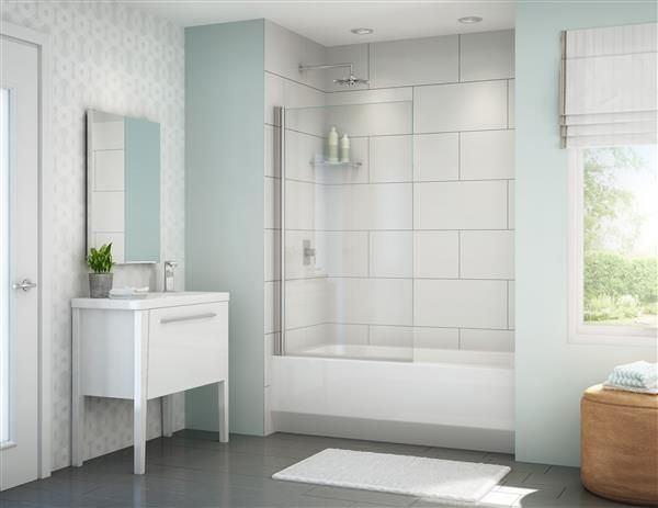 Best Price To Buy Fleurco Banyo Tub Solo Shield X Frameless In Line Tub  Shield Online From Our Exotic Home Expo Website. See Our Other Fleurco  Products.