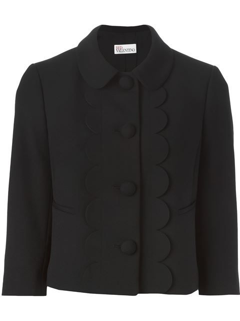 Shop Red Valentino scalloped trim jacket in Changing Room from the world's  best independent boutiques at