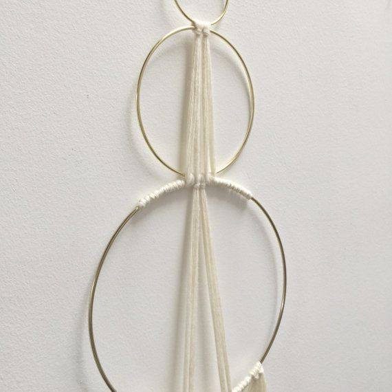 Three Ring Knotted Wool Macrame Wall Hanging by SonadoraInLove